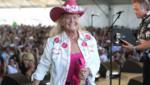 La chanteuse de country Lynn Anderson lors d'un festival en avril 2009 à Indio en Californie.