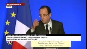 Hollande veut faire condamner les auteurs de tweets antisémites