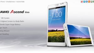 Le Smartphone Ascend Mate annoncé par Huawei