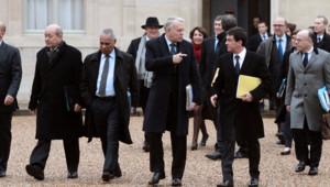 Les 38 membres du gouvernement Ayrault à l'Elysée, le 3 janvier 2013, pour le premier conseil des ministres de l'année.