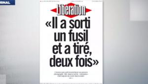"""""""Il a sorti un fusil et a tiré deux fois"""" : ce titre, en gros caractères noirs sur fond blanc, sera la Une de Libération mardi"""