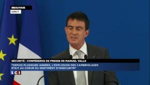 Sécurité : Manuel Valls annonce une baisse des cambriolages et des vols à main armée