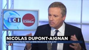"""Nicolas Dupont-Aignan : """"Il faut rétablir les frontières nationales"""""""