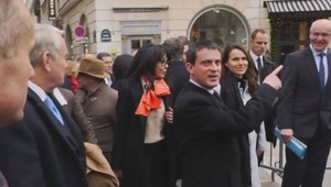 Manuel Valls rue Faubourg Saint-Honoré pointe l'Elysée