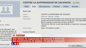 Rumeur de suppression de vacances : violences urbaines près d'un lycée du Chesnay