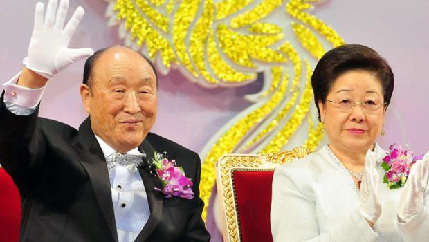 """Sun-Myung Moon, fondateur de l'""""Eglise de l'Unification"""", plus connue sous le nom de secte Moon (17 février 2010)"""