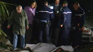 TF1/LCI - Les gendarmes sur les lieux du crash de l'hélicoptère, en Camargue, le 7 janvier 2007