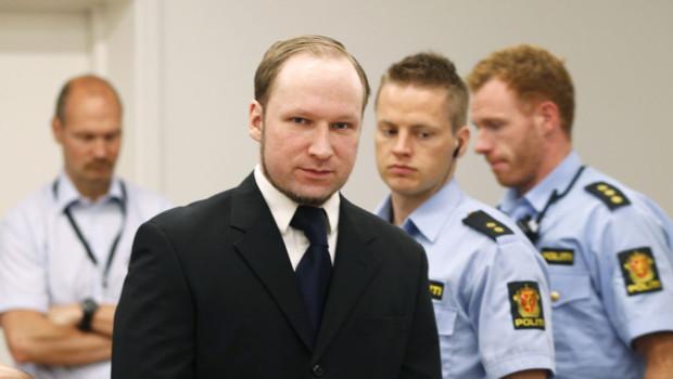 Anders Behring Breivik à son procès le 12 juin 2012