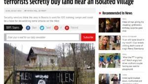 """Article du Mirror sur un """"camp"""" de l'Etat islamique en Bosnie"""