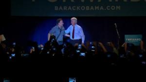 Bruce Springsteen et Bill Clinton, le 18/10/2012