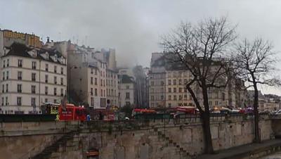 incendie rue de la huchette paris