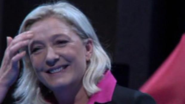Marine Le Pen à l'université d'été du FN à La Baule, le 23 septembre 2012.