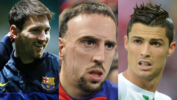 Messi, Ribéry et Ronaldo finalistes du ballon d'or 2013