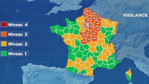 Météo : 22 départements en alerte, carte lci