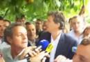 Montebourg est arrivé à Frangy-en-Bresse pour faire acte de sa candidature à la présidentielle