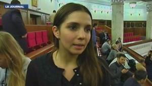 Evguenia Timochenko, la fille de Ioulia Timochenko, le 22 février 2014.