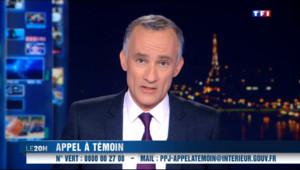 Le 20 heures du 18 novembre 2013 : Le procureur a lanc�n appel ��in pour identifier le tireur de Paris - 308.7599913330078