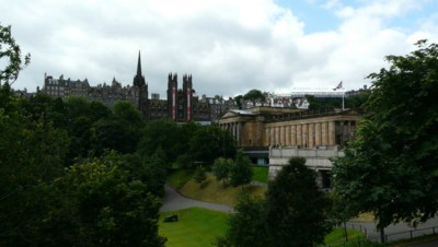 Une vue du centre d'Edimbourg, en 2012