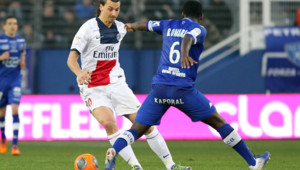 Zlatan Ibrahimovic, lors du match Bastia-PSG, 8/3/14
