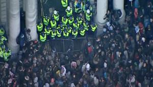 Manifestation d'étudiants à Londres, le 24 novembre 2010