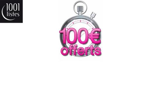 1001 listes vous offre 100 euros jusqu au 31 mars 2010 1001 listes 1001 - 1001 cadeaux liste de mariage ...