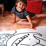 sticker dessin d'enfant