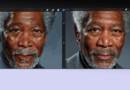 Le portrait de Morgan Freeman réalisé par Kyle Lambert sur iPad (en cours et terminé)