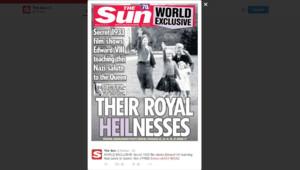 Elizabeth II The Sun nazi