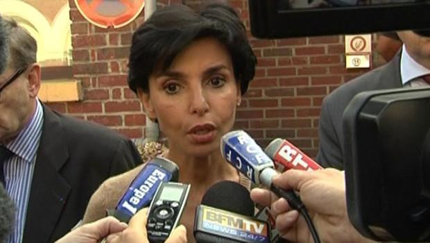 Rachida Dati en visite à la prison de Rouen, le 18 septembre 2008