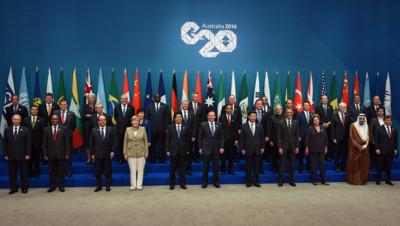 La photo de famille du G20 en Australie en novembre 2014.