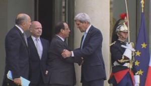 Laurent Fabius, William Hague, François Hollande et John Kerry, le 16/9/13, à l'Elysée