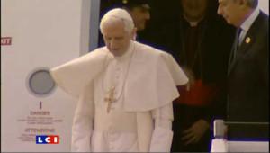 Le Pape à son arrivée à Berlin, le 22 septembre 2011.