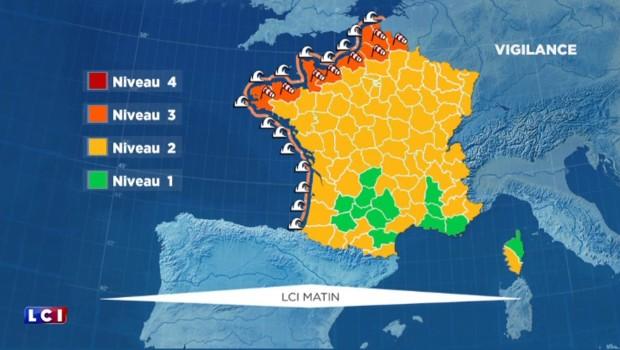 Vigilance orange : vents violents sur la côte ouest, des rafales de 140 km/h dans le Finistère
