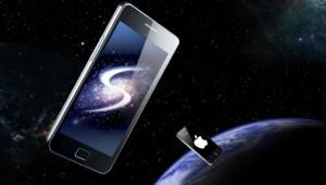 Le Galaxy de Samsung, challenger de l'iPhone d'Apple