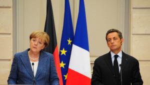 Angela Merkel et Nicolas Sarkozy/Image d'archives/août 2011