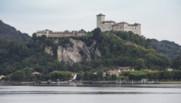 Le chateau Rocca sur une des îles Borromées où se déroule la fête de mariage de Beatrice Borromeo et Pierre Casiraghi