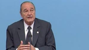 TF1/LCI : Jacques Chirac s'exprimant au deuxième et dernier jour du 24e sommet Afrique-France, à Cannes (16 fevrier 2007)