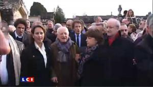 Hommage à Mitterrand : Royal et Aubry au 1er rang