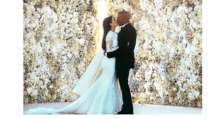 Cliché du mariage de Kim Kardashian et Kanye West posté le 27 mai 2014 sur Twitter par Kanye West.