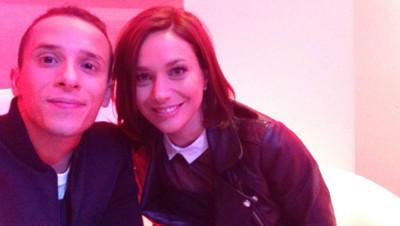 Nathalie Péchalat et Grégoire Lyonnet, lors de la conférence de presse de Danse avec les stars en septembre 2014