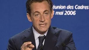 Nicolas Sarkozy devant les cadres de l'UMP TF1/LCI