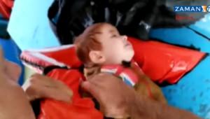 Sauvetage d'un bébé syrien par un pêcheur turc