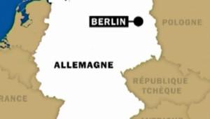 Allemagne Berlin carte