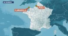 Carte de situation des centrales nucléaires de Flamanville et de Penly