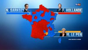 Hollande ou Sarkozy : la carte de France des résultats