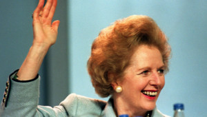 Margaret Thatcher, en 1989