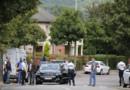 Policiers à St-Etienne du Rouvray après l'attaque de l'église, 26/6/16