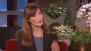 Carla Bruni dans l'émission d'Ellen de Generes