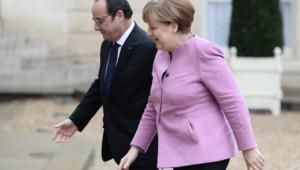 François Hollande et Angela Merkel à l'Elysée le 4 mars 2016