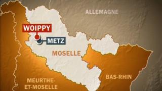 Woippy Moselle carte